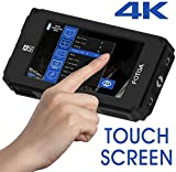 Fotga A50T 5 inch DSLR On Camera Touch Screen Video Field Monitor HD 1920x1080 Support 4K HDMI Input Output & Dual NP-F550 NP-F970 F570 F550 Battery Plate for Sony A7 A6500 Panasonic GH5 GH5s