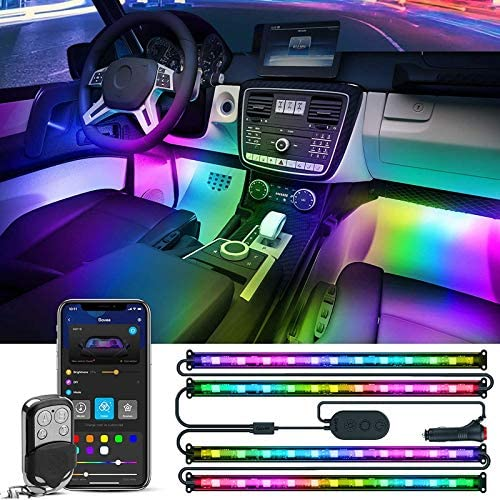Govee Rgbic Interior Car Lights, App Control, Music Mode, Multicolor and Scene Options Led Lights