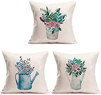 ShareJ 8 Pack Decorative Throw Pillow Cover 8D Effect Simple