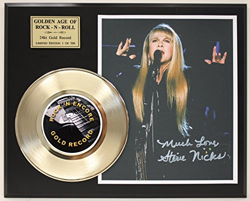Stevie Nicks Gold Record Reproduction Signature Series LTD Edition Display