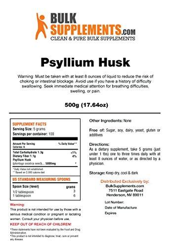 Bulksupplements Pure Psyllium Husk Powder (500 grams)