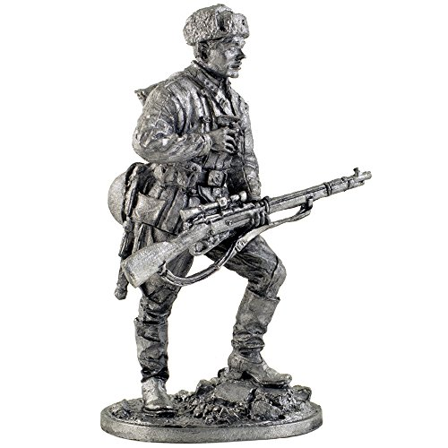 - The sniper Red Army V. Zaitsev, 1047 th Infantry Regiment, autumn 1942. Metal sculpture. Collection 54mm (scale 1/32) miniature figurine. Tin toy soldiers