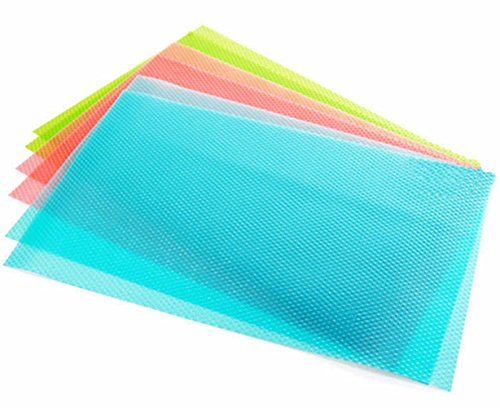 Mullsan Can be cut Wire Shelving Papers Mats Vinyl Shelf Liners for Kitchen Cabinets,Drawer,Refrigerator Lining,17.7''X60'' (Blue)