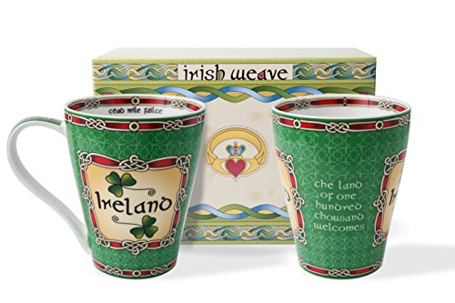 (Royal Tara Ireland Cup Set of Two with Gift Box)