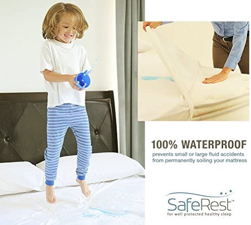 home, kitchen, bedding, mattress protectors, encasements,  mattress protectors 9 picture SafeRest Cal King Size Premium Hypoallergenic Waterproof Mattress in USA