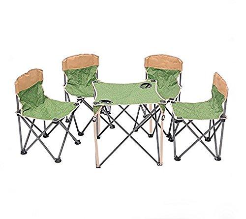 MCCOutdoor-Freizeit Faltung canvas-camping-Tisch und Stühle Set 5 große tragbare Angeln camping Tische und Stühle