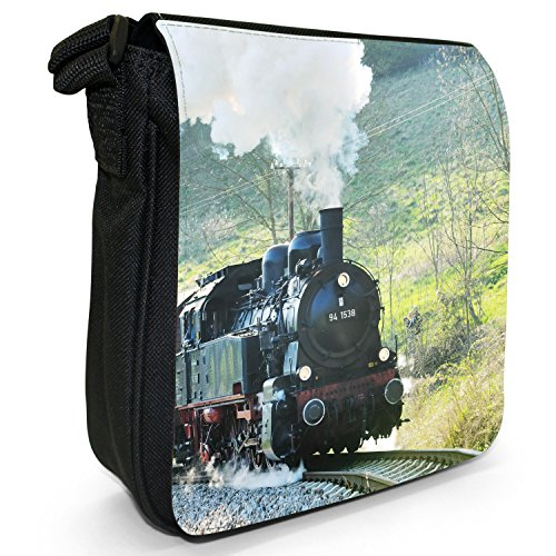 Black Size Bag Shoulder Canvas Steam Small Train Trains qpfx1E