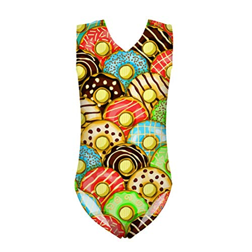 Frestree Donut Swimming Costum for Girls and Ladies for 10 Years Old Green Size 6 Tankini Swimsuit for Girls ()