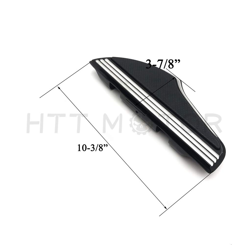 Streamline Passenger Footboard FloorBoard Compatible with Harley Touring 93-18 FLHR FLHX Chrome HTTMT MT216-122