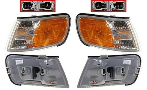Discount Starter and Alternator HO2551109 2550109 Honda Accord Corner Light Pair Plastic Lens With Bulbs - Honda Accord Corner Lens