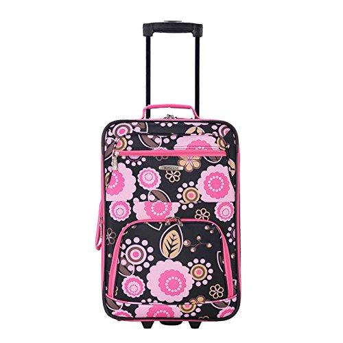 Pink Leopard Medium Rockland Luggage 2 Piece Printed Set