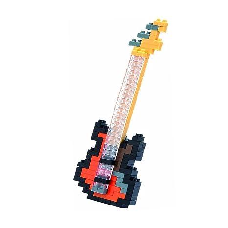 SainSmart Jr. paquete de 4 bloques de diamante azul rojo de la guitarra elšŠctrica de la guitarra baja de la guitarra acš²stica del instrumento musical ...