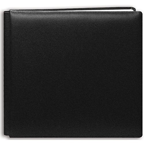 Leather Bound Album - Pioneer 12 Inch by 12 Inch Postbound Leather Family Treasures Memory Book, Black