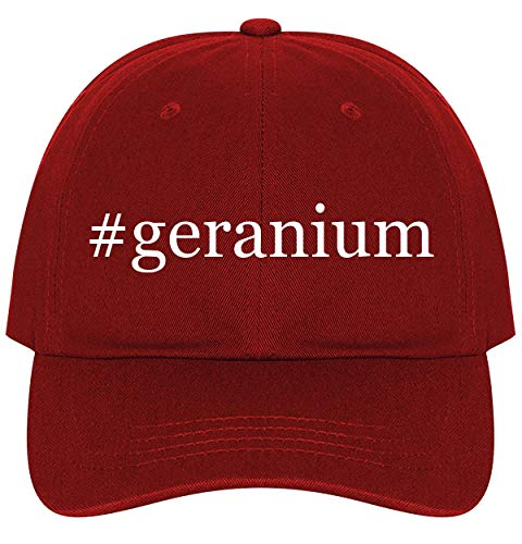#Geranium - A Nice Comfortable Adjustable Hashtag Dad Hat Cap, Red, One Size
