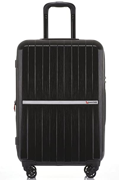 QANTAS Bondi 4 Wheel Trolley Suitcase, Black, 77cm: Amazon