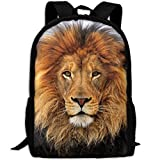 CY-STORE Awesome Animal Lion Outdoor Shoulders Bag Fabric Backpack Multipurpose Daypacks For Adult