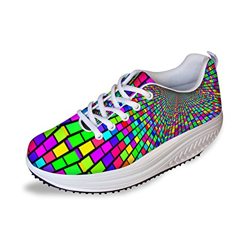 Pattern Shoes Fitness Toning Cool High Walking Platform Bigcardesigns Cool Women's Sport Sneaker xnORw6TqZ
