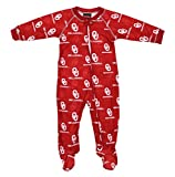 Outerstuff Oklahoma Sooners NCAA Baby Boys Raglan Zip-up Coverall Sleeper, Red