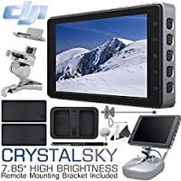 DJI CrystalSky Monitor, 7.85 High Brightness with Remote Controller Mounting Bracket