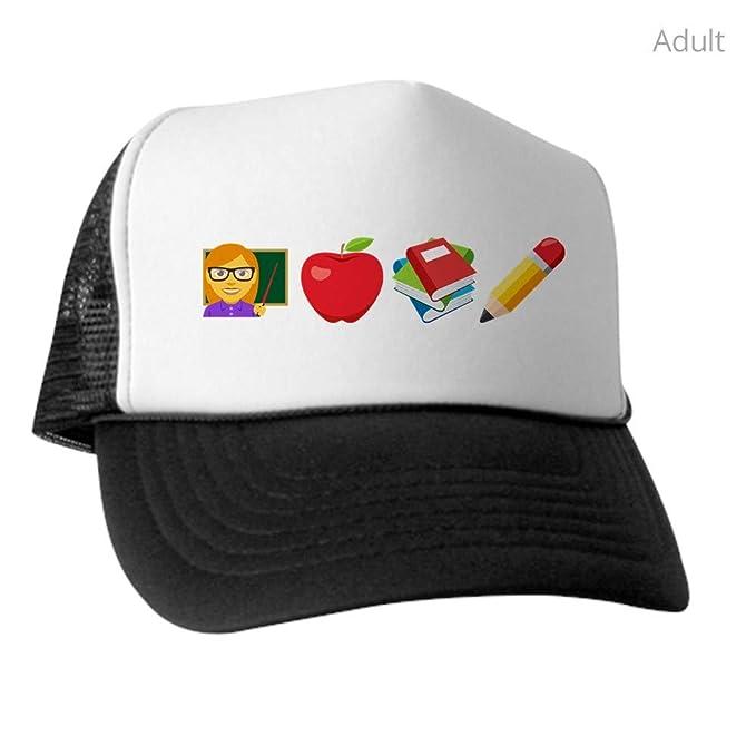 b2966c571 Amazon.com: CafePress Teacher Apple Books Pencil Trucker Hat ...