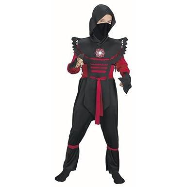 Amazon.com: Childs Red Fury Ninja Costume (Size: Large 12 ...