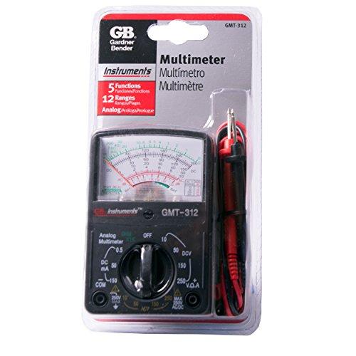 032076072988 - Gardner Bender GMT-312  Analog Multimeter, 5 Function / 12 Range, 300V AC/DC, for AC / DC Voltage & Current, Resistance, Continuity & Batteries carousel main 1