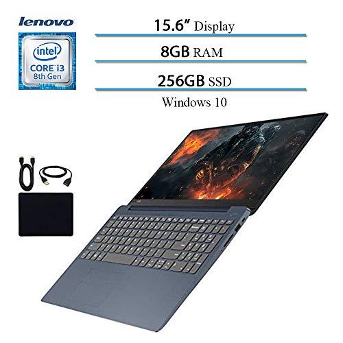 "2019 ILenovo IdeaPad 330 15.6"" Laptop Computer, 8th Gen Intel Core i3-8130U Up to 3.4GHz (Beat i5-7200U), 8GB RAM, 256GB SSD, Wi-Fi, Bluetooth, Webcam, HDMI, Windows 10 (Blue) w/Accessories"