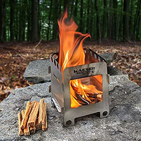 Details about  /Foldable Backpackers Wood Burning Stove Compact Burner Camping Hiking BBQ
