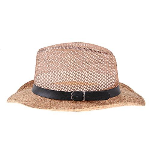 Blesiya 古典的 旅行帽 西洋帽子 メンズ キャップ 紳士 紫外線対策 折り畳み リネン 通気 軽量 全2色