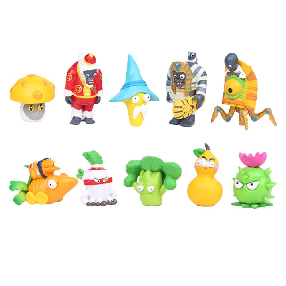 Plants vs Zombies Figurina giocattolo Popolare giocattolo Rich giocattolo dellautomobile della bambola della decorazione del giocattolo Mani ufficio Giocattoli fumetto Color : A01 , Size : 5-8cm