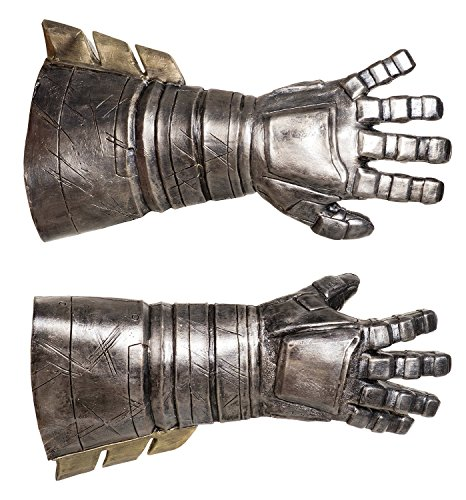 Superhero Costumes Replicas (Rubie's Men's Batman v Superman: Dawn of Justice Batman Armored Latex Gauntlets, Black, One Size)