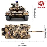 Heng Long Remote Control 2.4Ghz 1/16 Scale Russian T-90 RC Main Battle Tank with Metal Gear and Tracks, Airsoft RC Tank, Pro Edition