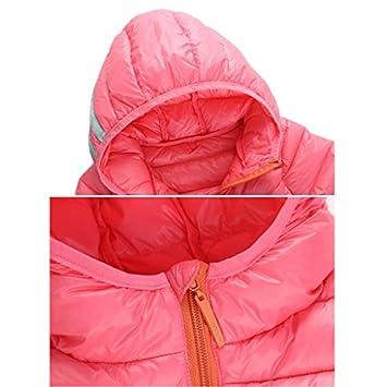 b2fab1820e9 Vine Chaqueta de Pluma para Niños Niñas Ligero Abrigos con Capucha  Embalable Chaquetas de Invierno