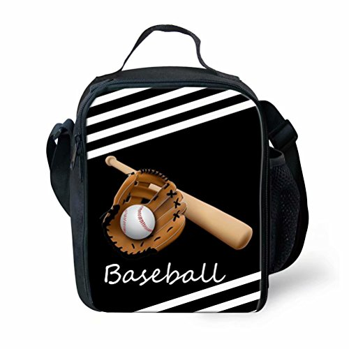 Kids Lunch Bag Baseball Lunch Organizer Lunch Holder Lunch Container for Toddler ()