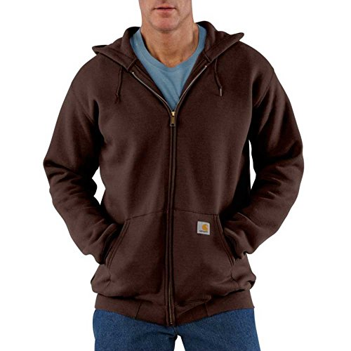 - Carhartt Men's Big & Tall Midweight Sweatshirt Hooded Zip Front Original Fit,Dark Brown,XX-Large Tall
