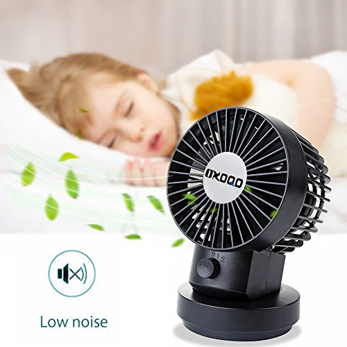 Small Quiet Electric Fans : Oxoqo usb desk mini fan small oscillating quiet personal
