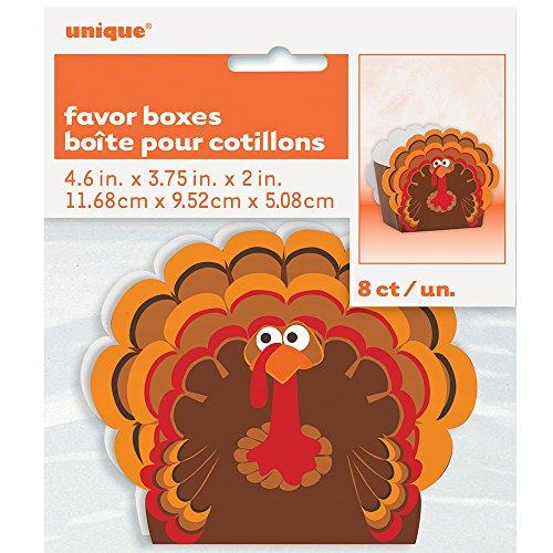 Turkey Thanksgiving Favor Boxes, 8ct -
