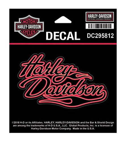 Harley-Davidson Flames H-D Decal, SM Size - 4 x 2.4375 inches DC295812