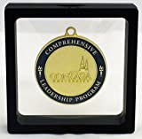 Black Challenge Coin / Medal Illusion Presentation Box by Decade Awards