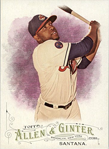 (2016 Topps Allen and Ginter Baseball #205 Carlos Santana Cleveland Indians )
