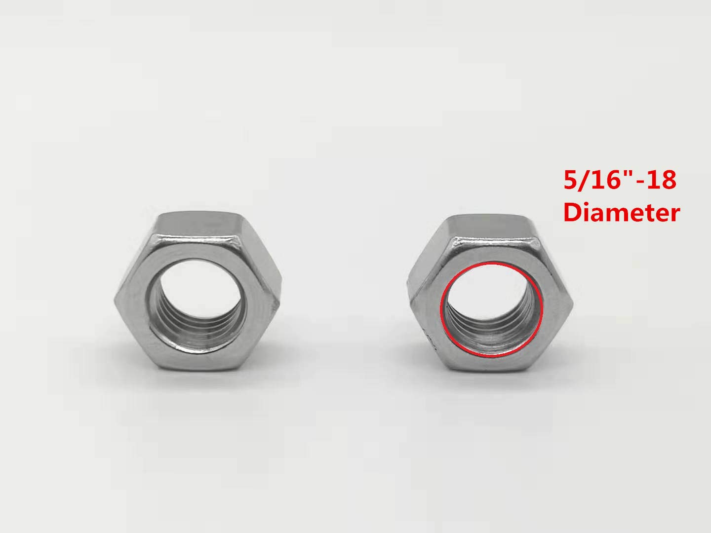 Sweetfamily 3//8-16 Stainless Hex Nut,304 Stainless Steel Nuts for Home Improvement and Industrial Accessories(50 Pack)