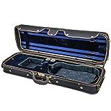 Sky Violin Oblong Case VNCW02 Solid Wood with Hygrometers Black/Blue