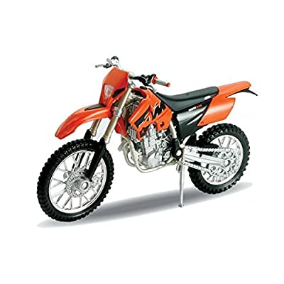 2007 KTM 525 EXC [Welly 12815], Orange, 1:18 Die Cast