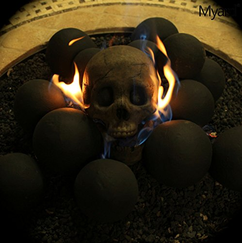 Amazon.com: Myard Fireproof Human Fire Pit Skull Gas Log for NG ...