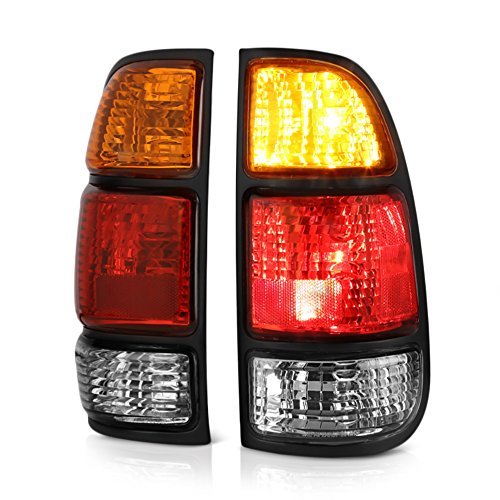 Access Cab Models - VIPMOTOZ Red & Amber Lens OE-Style Tail Light Lamp Assembly For 2000-2006 Toyota Tundra Regular & Access Cab Model, Driver & Passenger Side