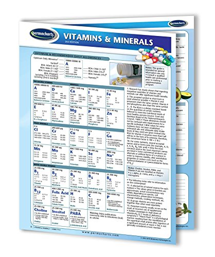 Vitamins & Minerals Guide - Quick Reference Guide by Permacharts