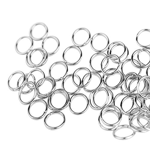 560pcs Silver Plated Open Jump Rings for Choker Necklaces Bracelet (Silver Plated Twisted Ring)