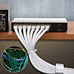 Cat6-Ethernet-Cable-60-FT-White-BUSOHE-Cat-6-Flat-RJ45-Computer-Internet-LAN-Network-Ethernet-Patch-Cable-Cord-60-Feet