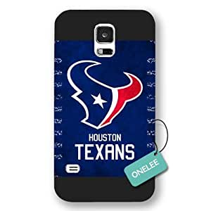Onelee(TM) - Black Frosted NFL Team Houston Texans Logo Samsung Galaxy S5 Case & Cover - Black 1