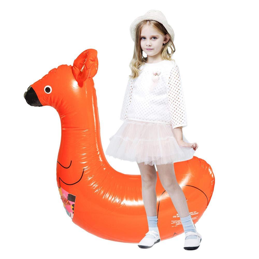 ZFFMSS Inflatable Kangaroo Pool Float Circle Mattress Baby Ride On Swimming Ring Seat Boat Raft Summer Children Water Fun Toys 80X110cm by ZFFMSS